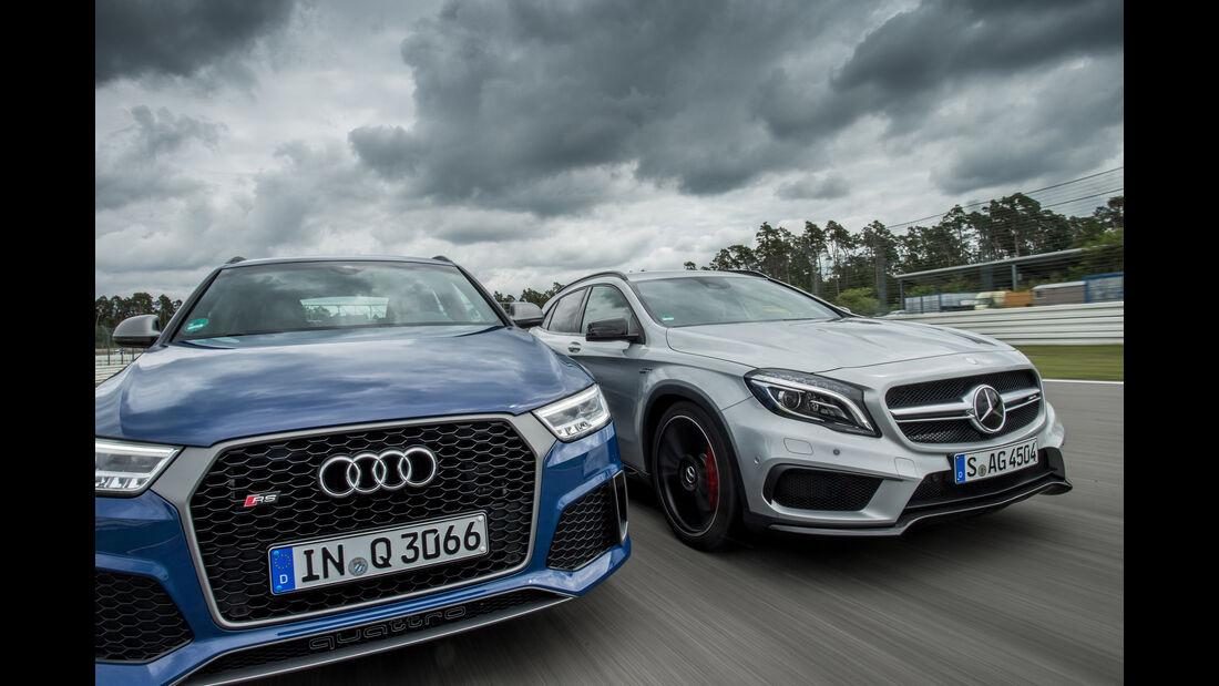 Audi RS Q3 Performance, Mercedes-AMG GLA 45 4Matic, Frontansicht