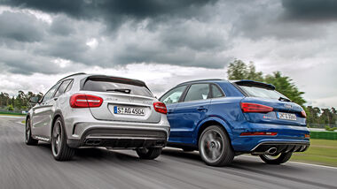 Audi RS Q3 Performance, Mercedes-AMG GLA 45 4Matic, Heckansicht