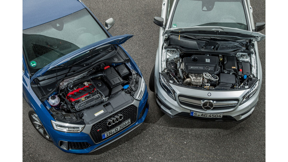 Audi RS Q3 Performance, Mercedes-AMG GLA 45 4Matic, Motor