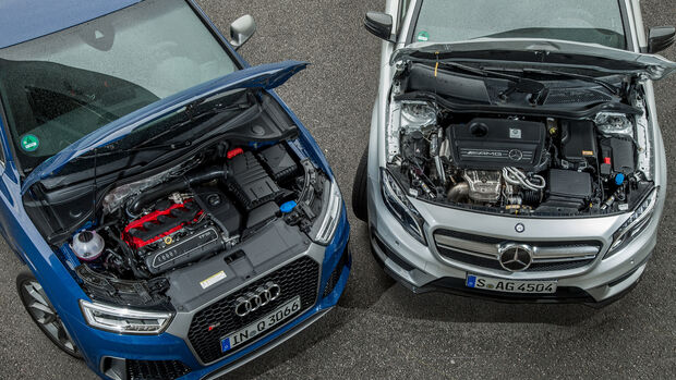Audi RS Q3 Performance, Mercedes-AMG GLA 45 4Matic, Motor