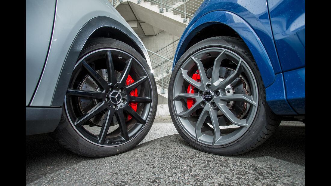 Audi RS Q3 Performance, Mercedes-AMG GLA 45 4Matic, Rad, Felge
