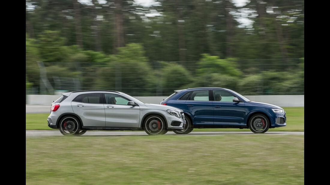 Audi RS Q3 Performance, Mercedes-AMG GLA 45 4Matic, Seitenansicht