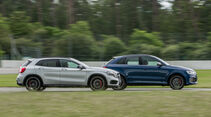 Audi RS Q3 Performance, Mercedes-AMG GLA 45 4Matic, Seitenansicht