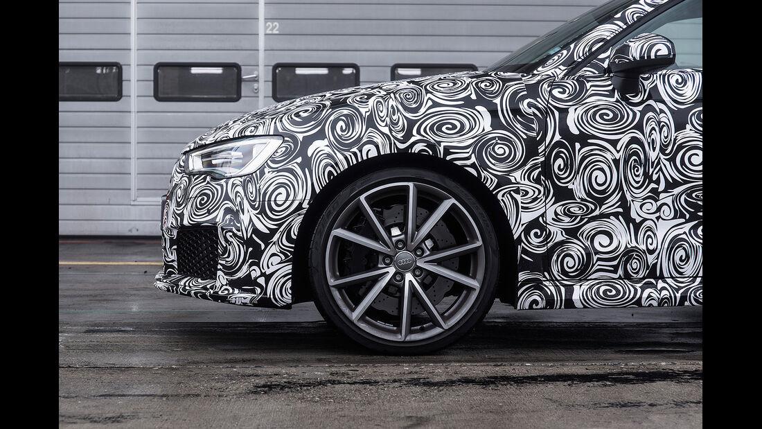 Audi RS3 2015, Erlkönig, Scheinwerfer, Felge