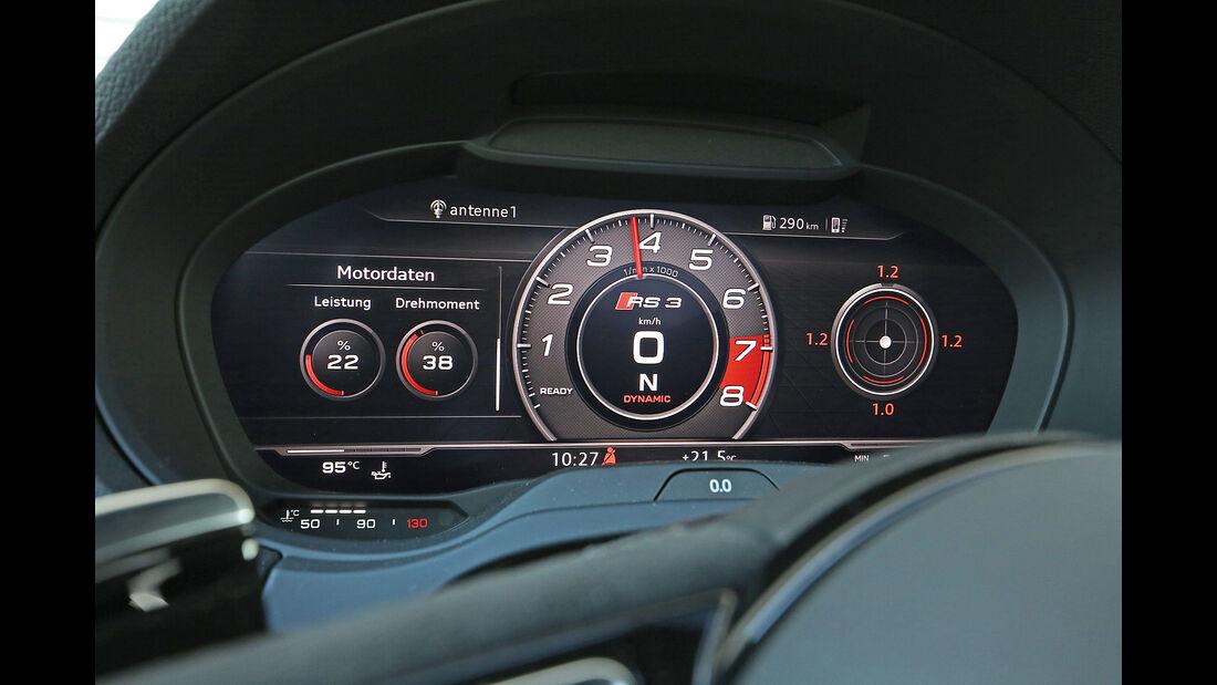 Audi RS3, Display, Drehzahlanzeige