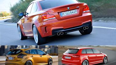 Audi RS3, Ford Focus ST, BMW 1er M Coupé