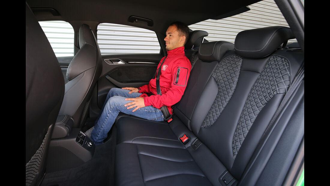 Audi RS3, Innenraum, hinten