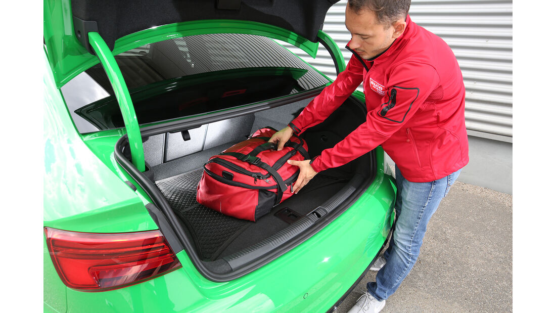 Audi RS3, Kofferraum, Volumentest