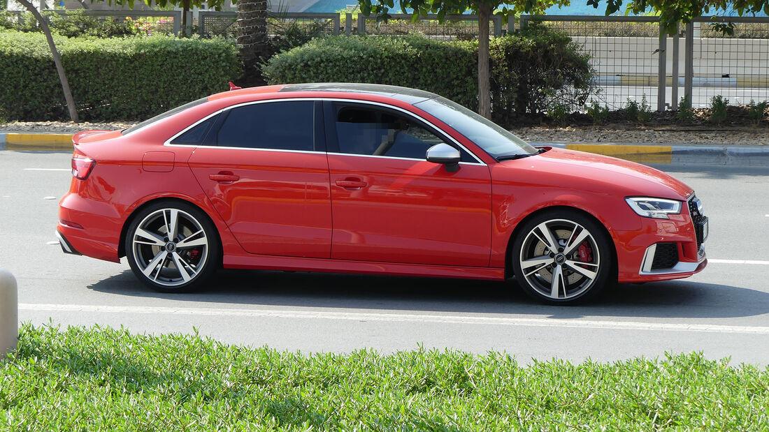 Audi RS3 Limousine - Carspotting - GP Abu Dhabi 2019