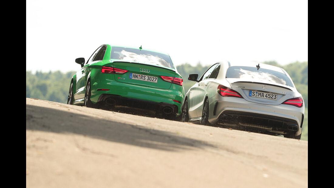 Audi RS3, Mercedes-AMG CLA 45, Heck