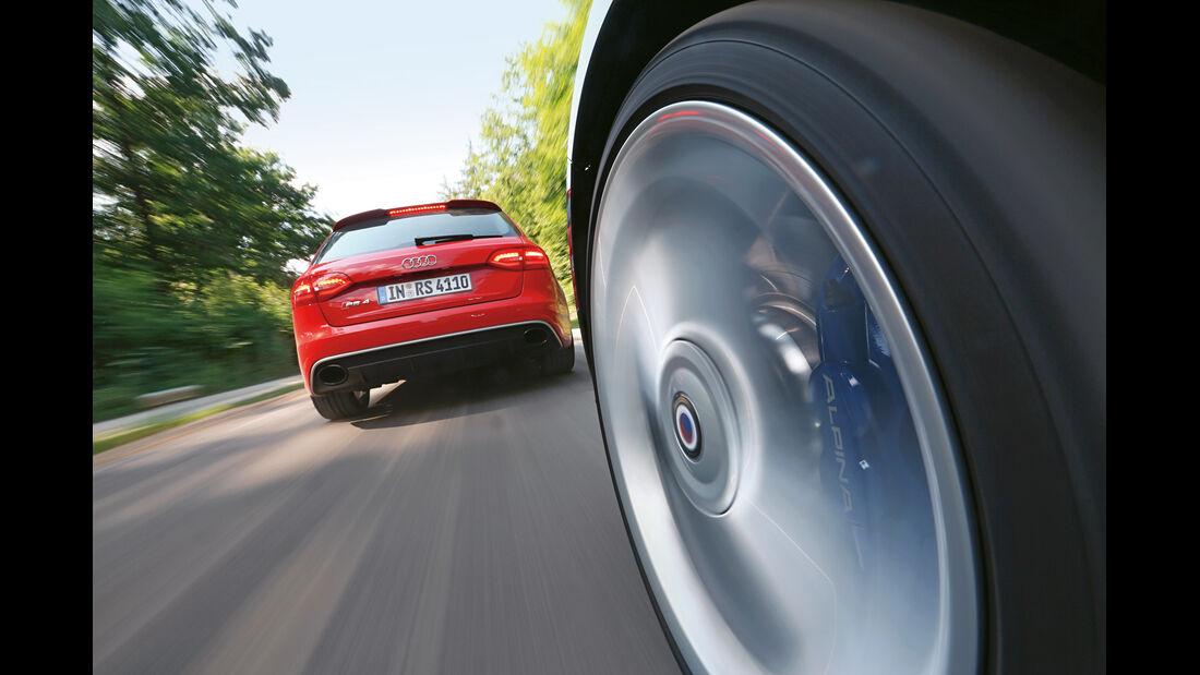 Audi RS4 Avant, Alpina B3 Biturbo Touring Allrad, Fahrersicht