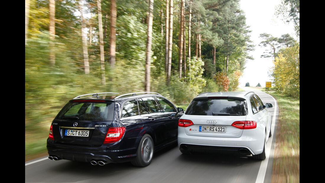 Audi RS4 Avant, Mercedes C 63 AMG T,