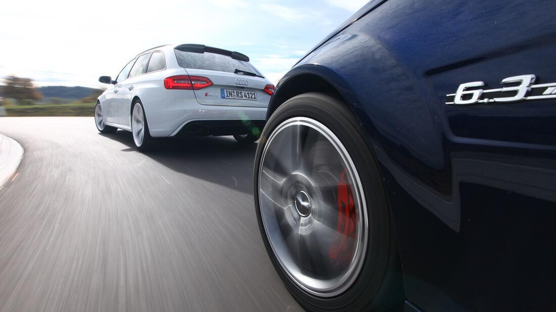 Audi RS4 Avant, Mercedes C 63 AMG T, Heckansicht