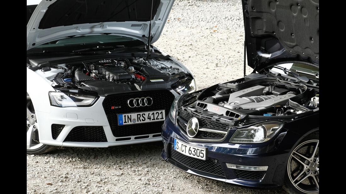Audi RS4 Avant, Mercedes C 63 AMG T, Motor