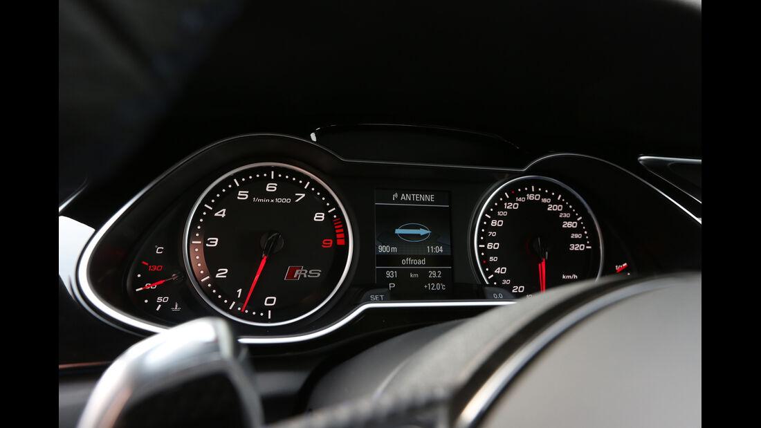 Audi RS4 Avant, Rundinstrumente