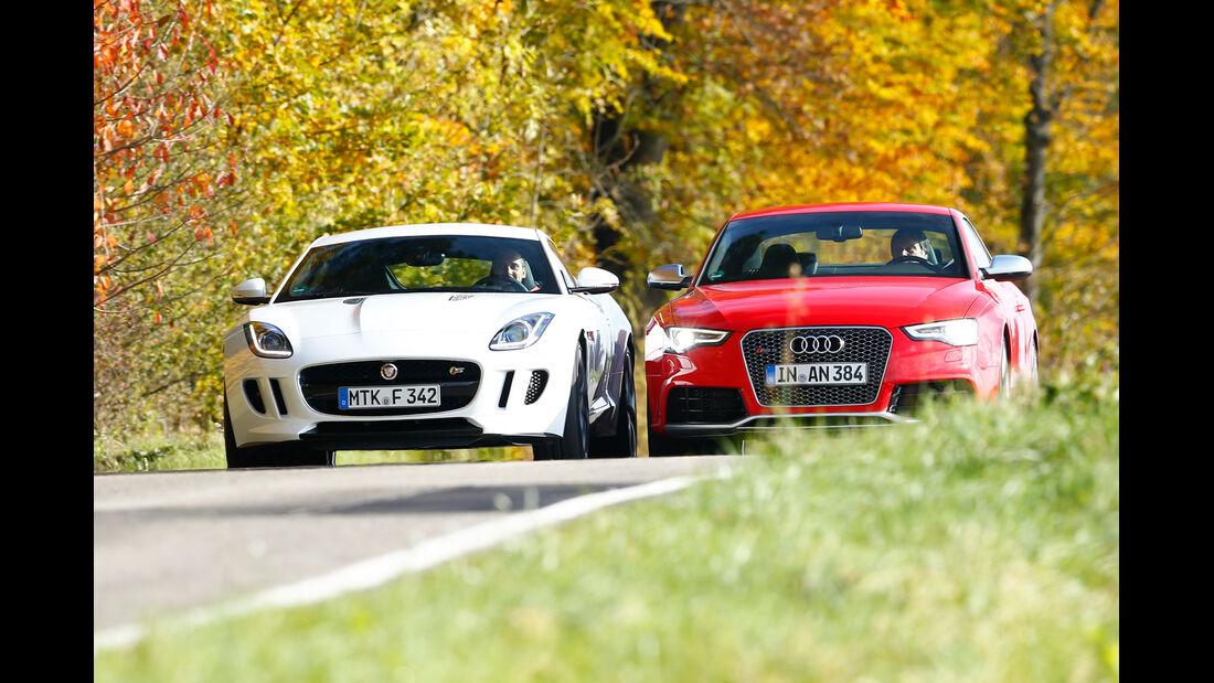 Audi RS5 Coupé, Jaguar F-Type S Coupé, Frontansicht