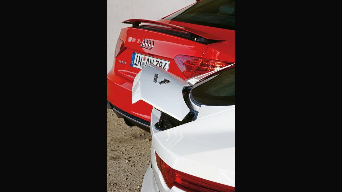 Audi RS5 Coupé, Jaguar F-Type S Coupé, Heckspoiler
