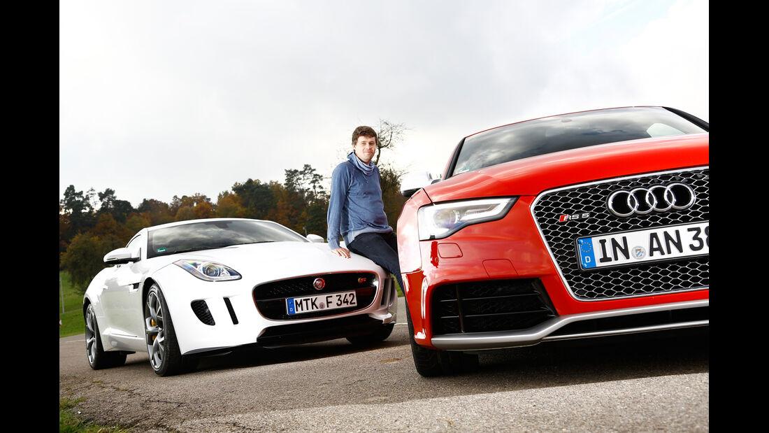 Audi RS5 Coupé, Jaguar F-Type S Coupé, Stefan Helmreich
