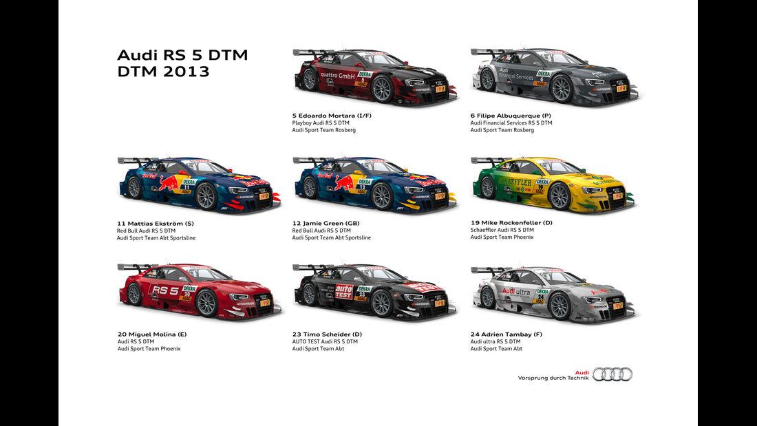 Audi RS5 DTM Flotte 2013