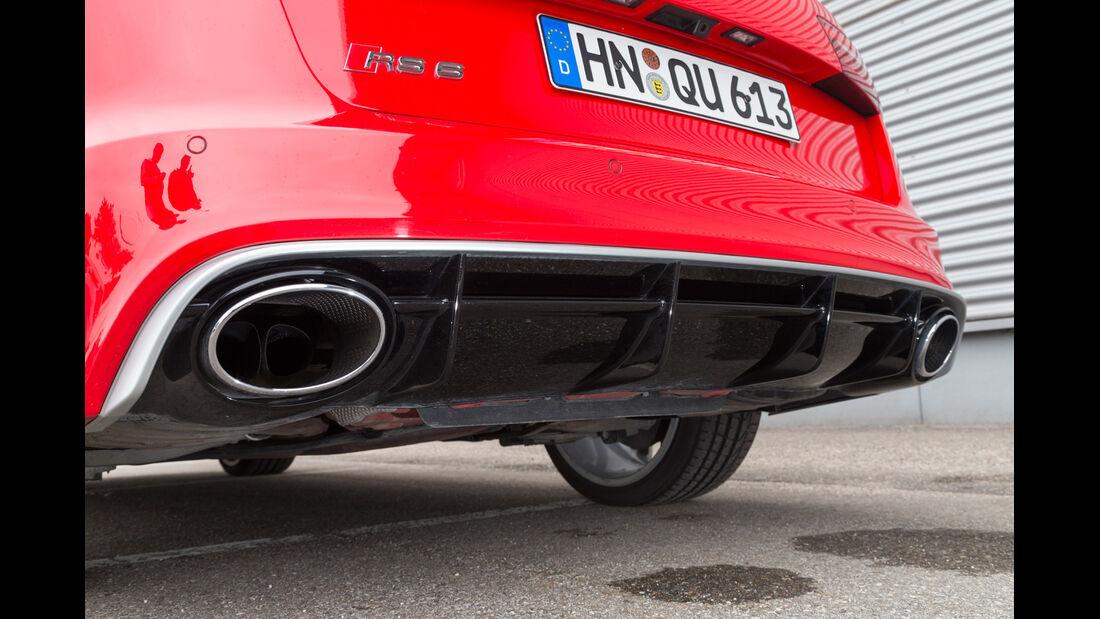 Audi RS6, Auspuff, Endrohre
