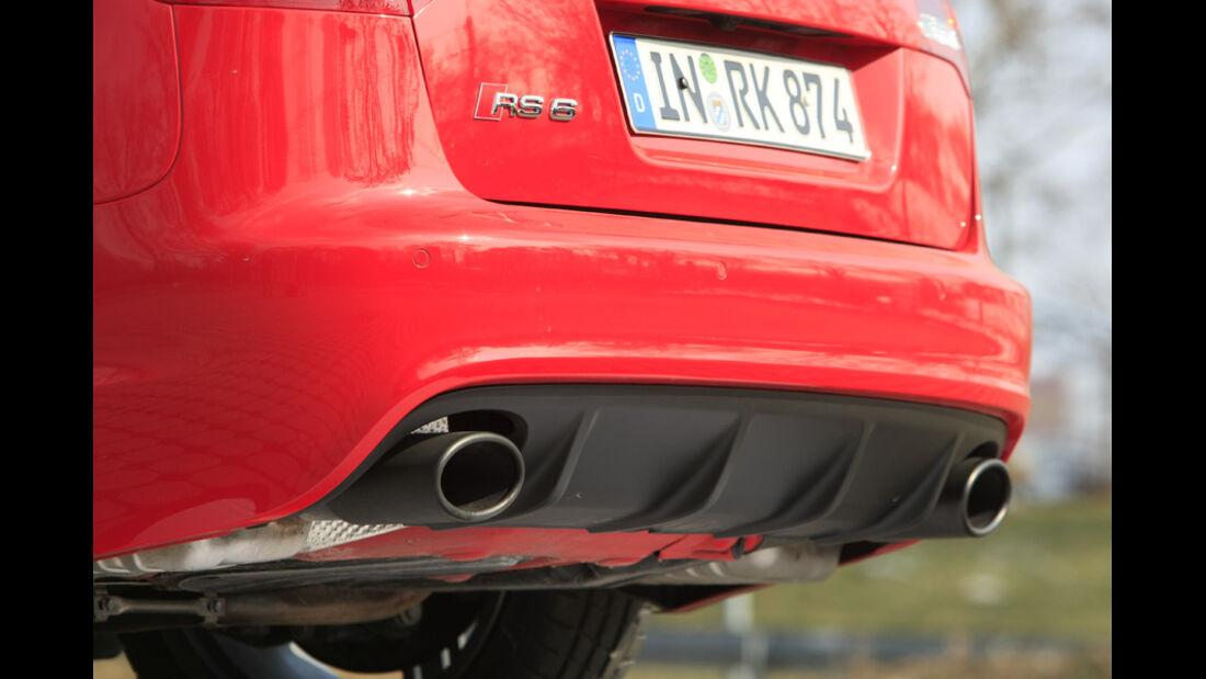 Audi RS6 Avant, Auspuff