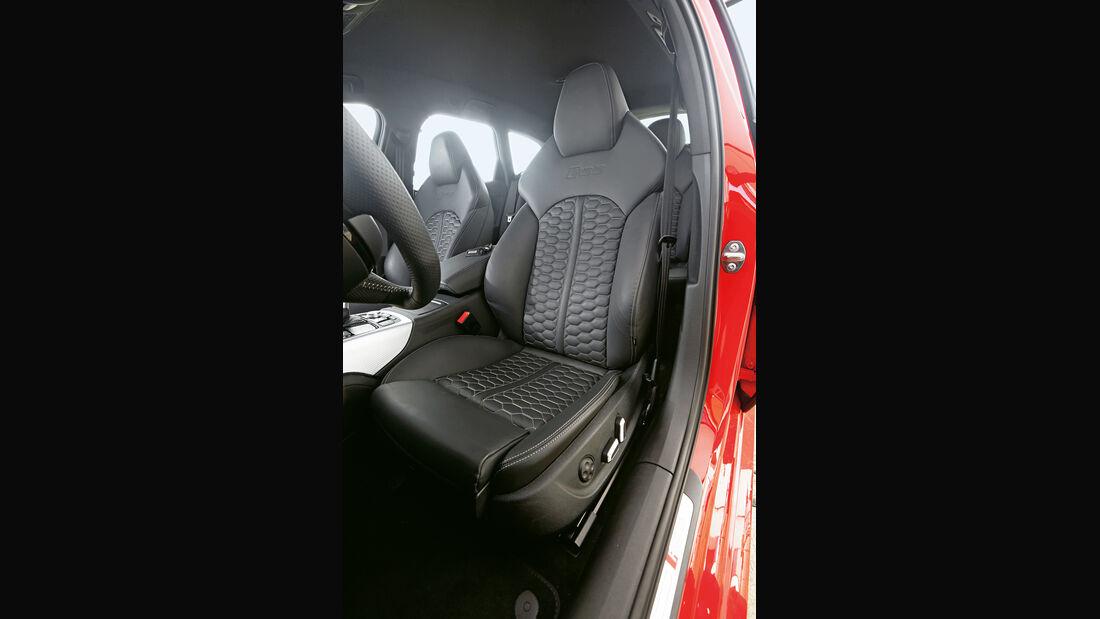 Audi RS6 Avant, Fahrersitz