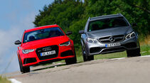 Audi RS6 Avant, Mercedes E 63 T AMG S 4Matic, Frontansicht
