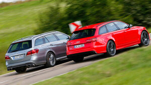 Audi RS6 Avant, Mercedes E 63 T AMG S 4Matic, Seitenansicht