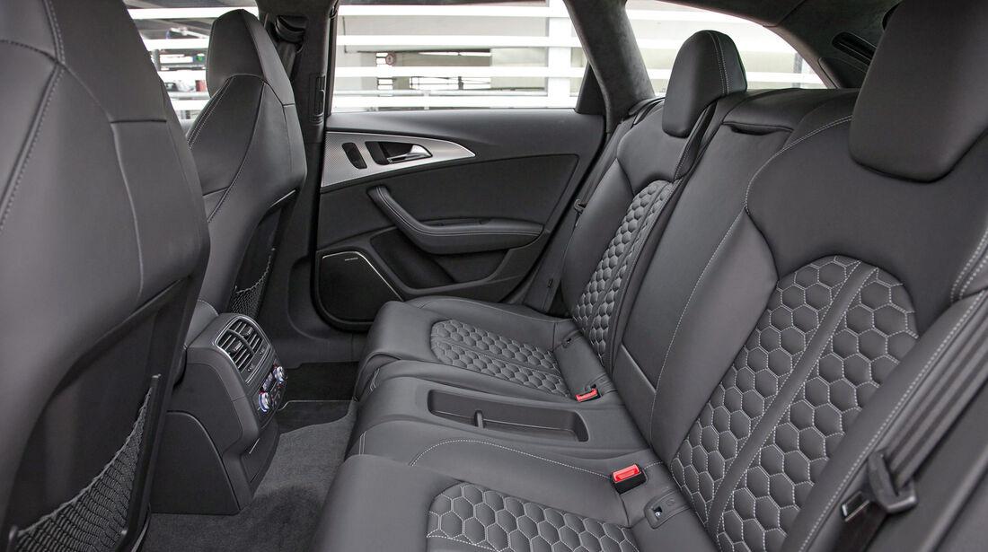 Audi RS6 Avant, Rücksitz, Beinfreiheit