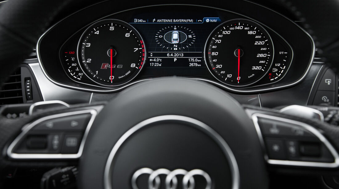 Audi RS6 Avant, Rundinstrumente