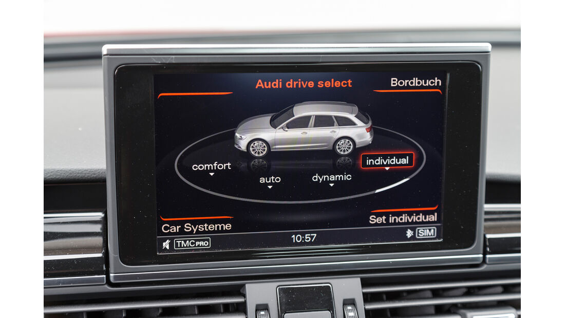 Audi RS6, Monitor, Bordcomputer