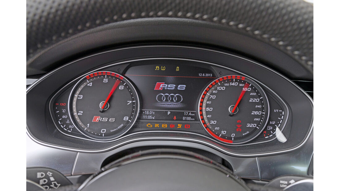 Audi RS6, Rundinstrumente