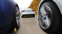 Audi RS7, BMW M5, Mercedes E 63 AMG S, Fahrt