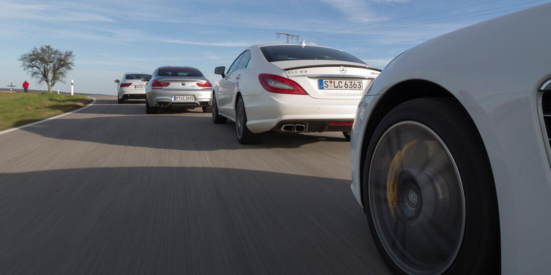 Audi RS7, BMW M6 Gran Coupé, Mercedes CLS 63 AMG S, Porsche Panamera