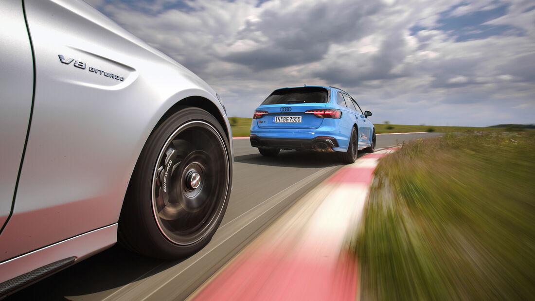 Audi Rs 4 Avant, Mercedes AMG C 63 T, Exterieur