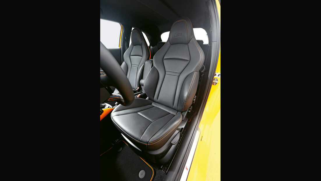 Audi S1, Fahrersitz