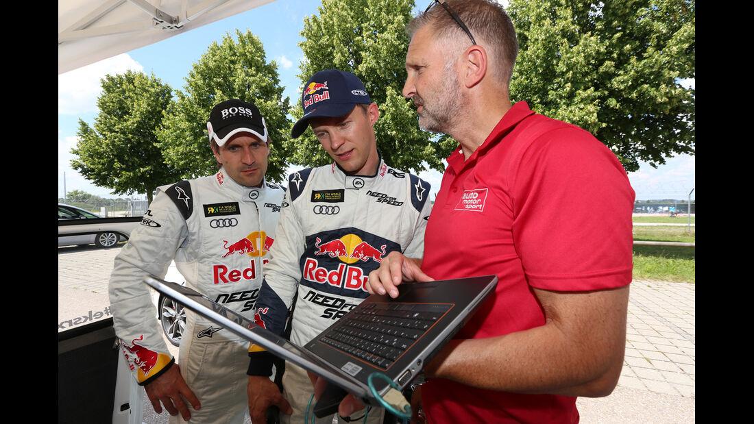 Audi S1 Rallycross, Winkelhock, Ekström, Testchef Albig