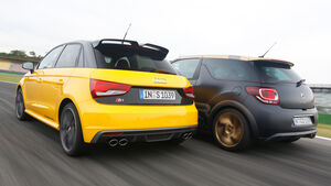 Audi S1 Sportback, Citroën DS3 Racing, Heckansicht