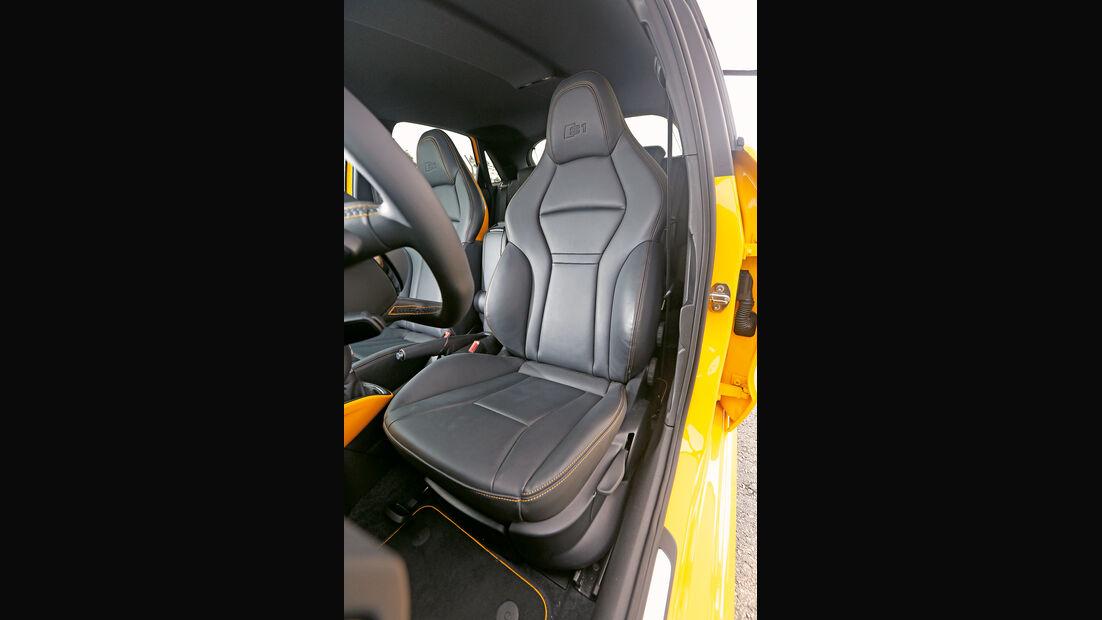Audi S1 Sportback, Fahrersitz