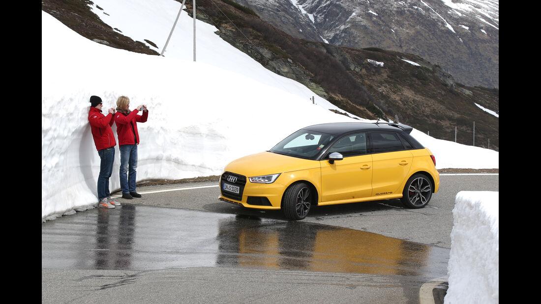 Audi S1 Sportback, Schneewand, Impression, Bernardino