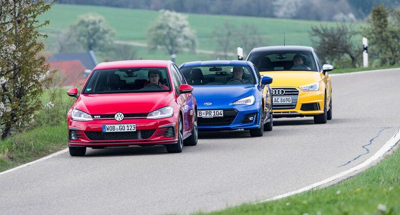 Audi S1 Sportback, Subaru BRZ, VW Golf GTI
