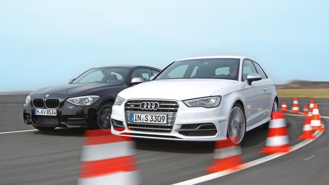 Audi S3 2.0 TFSI, BMW M135i x-Drive, Frontansicht