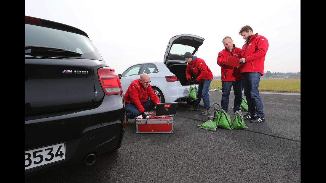 Audi S3 2.0 TFSI, BMW M135i x-Drive, Heckansicht
