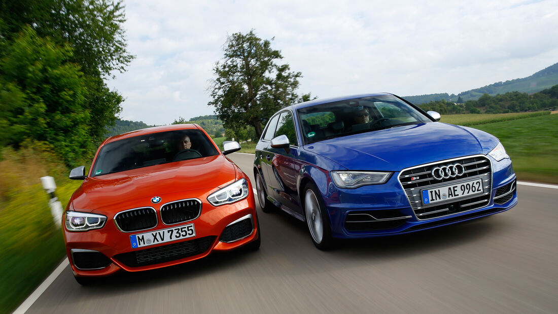 Audi S3, BMW M135i, Frontansicht