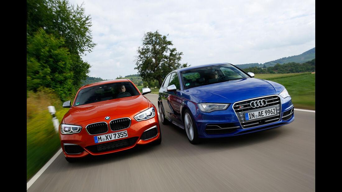 Audi S3, BMW M135i, Frontansicht