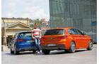 Audi S3, BMW M135i, Heckansicht