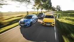 Audi S3, BMW M135i, Mercedes-AMG A 35, Exterieur