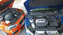 Audi S3, BMW M135i, Motoren