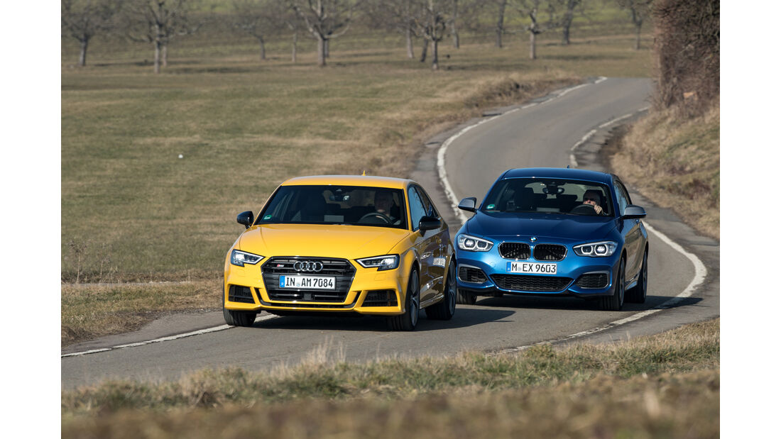 Audi S3, BMW M140i xDrive, Frontansicht