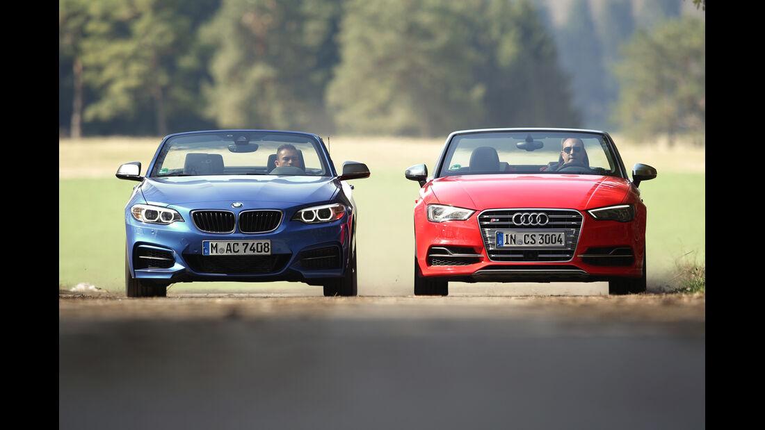 Audi S3 Cabrio, BMW M235i Cabrio, Frontansicht